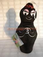 Peluche barbapapa' personaggio  barbamamma nero  alto cirna 30 - 35 cm