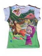 MASHA E ORSO Maglietta T-SHIRT bambina 4 anni art.st13 bianco