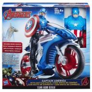 Marvel Titan Hero Series Capitan America con veicolo B5776 di Hasbro