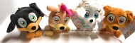 Chi Chi Love 4 Personaggi Chloe - Rocky - Rosie - Chichi - Peluche da 20 cm Circa  4006592046651