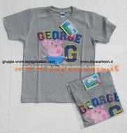 !!!t shirt peppa pig !!!! MAGLIETTA DI PEPPA PIG GEORGE  DI COLORE grigio  , T-SHIRT DI PEPPA PIG GEORGE DI COLOR GRIGIO , COD 9434B