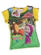 MASHA E ORSO Maglietta T-SHIRT bambina 7 anni art.st13 Giallo