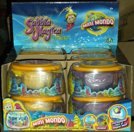 1 MAGICA SABBIA GIOCHI PREZIOSI MINI MONDO sabbia magica colorata