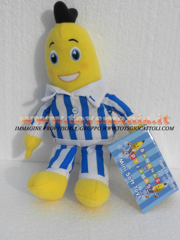Peluche cartone animato banana in pigiama personaggio b
