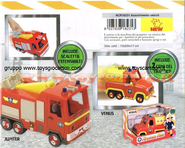 Elicottero Sam Il Pompiere : Sam il pompiere offerta pezzi camion jupiter e la