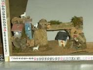 Millenium Christmas. Ambientazione per il presepe con casette e pecorelle. cod.352