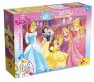 Princess Puzzle Doppia Faccia Supermaxi, 60 Pezzi di Lisciani Giochi 48250 double-face