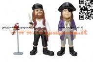 Micki® - Personaggi . pippi calzelunghe 2 Pirati e Rosalinda cod 44.3711