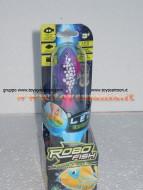 Robo fish led con luce , pesce viola 02292