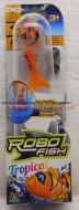ROBO FISH TROPICAL , ROBOFISH TROPICAL CON COLORI TROPICALI SIMULA IL MOVIMENTO DI UN PESCE VERO MODELLO SQUALO ARANCIO COD NCR 02239