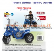 BIEMME MOTO A BATTERIA DELLA POLIZIA FOXY POLIZIA (Art. 1060/AZ) MADE IN ITALY Articoli Elettrici - Battery Operate