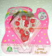 !!! JEWELPET !!!!! JEWEL LIP GLOSS !!!! BRACCIALETTO COLORE , ROSSO CON JEWELPET E 1 LIP GLOSS COD 12243