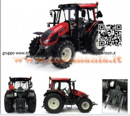 UNIVERSAL HOBBIES UH 4211 TRATTORE Valtra N 103 Bright Red SCALA 1/32