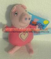 !!!! Peluche Peppa Pig !!!! PUPAZZO PELUCHE PEPPA PIG PERSONAGGIO PEPPA PIG CON PIGIAMA CUORE ALTEZZA CIRCA 16 CM  toys , BRINQUEDOS ,JUGUETES , JOUETS , giocattoli !!PEPPA PIG