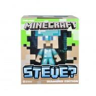 Minecraft 6022577 - Vinyl Diamond Steve Personaggio, Versione da Collezione, in Plastica, Alto 15 cm