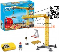 PLAYMOBIL 5466 GRANDE GRU CON RADIO CONTROLLO City Action - Large Crane with IR Remote Control - 5466