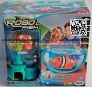 ROBO FISH TROPICAL MODELLO PESCE PAGLIACCIO CON CASTELLO E AQUARIO NCR 02242