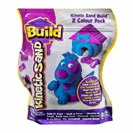 Sabbia Kinetica , Kinetic Sand Build 2 Colour Pack (Blue/Purple) 454g CANE CON CUCCIA