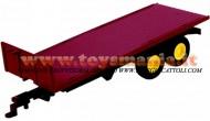 Britains 40935 - RIMORCHIO Twin Axle Flat Bed Trailer (Red ROSSO ) - 1/32 FUORI PRODUZIONE
