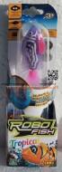 ROBO FISH TROPICAL , ROBOFISH TROPICAL CON COLORI TROPICALI SIMULA IL MOVIMENTO DI UN PESCE VERO MODELLO VIOLA BIANCO COD NCR 02239