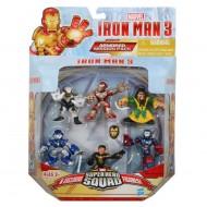 NUOVO  Marvel 6 PERSONAGGI IRONMAN 3 HERO SQUAD - A4888 SIN4
