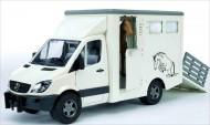 CAMION BRUDER ,BRUDER Mercedes Benz Sprinter bestiame comprende 1 cavallo COD 02533