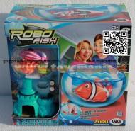 ROBO FISH TROPICAL MODELLO PESCE ROSA CON CASTELLO E AQUARIO NCR 02242