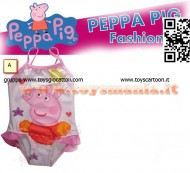 COSTUME DA MARE INTERO PEPPA PIG , MODELLO PEPPAPIG CON ANELLI