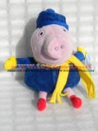 PELUCHE PEPPA PIG PERSONAGGIO GEORGE CON LA SCIARPA CM 33 CIRCA