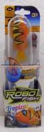 ROBO FISH TROPICAL , ROBOFISH TROPICAL CON COLORI TROPICALI SIMULA IL MOVIMENTO DI UN PESCE VERO MODELLO PAGLIACCIO CON RIGHE GIALLE COD NCR 02239