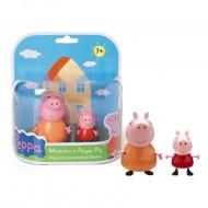 Giochi Preziosi - Peppa Pig, Coppia Personaggi con Mamma COD CCP01471