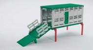 Bruder Container interscamb. c/rampa per trasp. Bestiame    [ cod 03920 ]