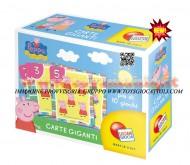 Peppa Pig carte giganti Lisciani Giochi 40599