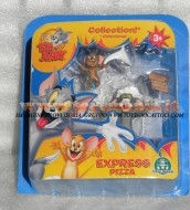 !!!! GIOCHI PREZIOSI TOM E JERRY  !!! TOM and JERRY ACTION FIGURES TOM E JERRY IN PIZZA EXPRESS BLISTER 2 PEZZI, COD CCP 15054