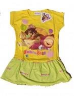 MASHA E ORSO Maglia - MAGLIETTA - T-SHIRT Vestito con balza bambina 5 anni art.VM09 Giallo