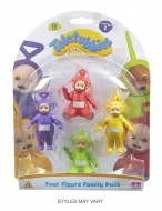 Teletubbies - Set di 4 personaggi : Tinky Winky, Dipsy, Laa Laa e Po