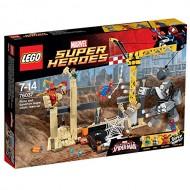 LEGO Super Heroes 76037 - L'Alleanza Criminale di Rhino e L'Uomo Sabbia contro Spiderman