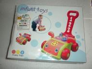Infant toys ! Giocattolo trainabile molto colorato a forma di macchina ( confezione rovinata , ma prodotto integro )