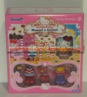 !!!! HELLO KITTY !!! FAIRY BOUTIQUE ,PERSONAGGI CON VESTITI E ACCESSORI MODELLO HELLO KITTY HANSEL E GRETEL COD 86213