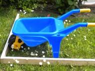 Cavallino Cariola  Blu con ruota grande
