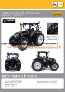 UNIVERSAL HOBBIES TRATTORE NEW HOLLAND T6.160 GOLDEN JUBILEE SCALA 1/32 COD UH 4272