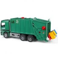 Camion Trasporto Rifiuti COLOR VERDE BRUDER - CAMION TRASPORTO RIFIUTI MB ACTROS 02661