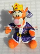 PELUCHE ,DISNEY WINNIE POOH ,personaggio TIGRO vestito da principe ,Winnie the Pooh  TG 3 ALTEZZA CM 30