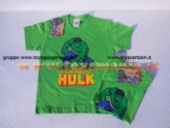 T-SHIRT MAGLIA THE INCREDIBLE HULK  MANICA CORTA NUOVO MODELLO DI COLOR VERDE , L'INCREDIBILE HULK MARVEL