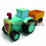 BOB AGGIUSTATUTTO , BOB THE BUILDER PERSONAGGIO TRATTORE TRAVIS PREMI E GIOCA COD LC 65564 CM 16 GIOCHI , toys , BRINQUEDOS ,JUGUETES , JOUETS , giocattolo