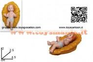 personaggio per il presepe gesu bambino in plastica cm 4,5 x 2 cod 8033113056499