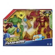 Marvel - Hero Mashers Hulk Versus Hulk Buster Figurine B1916EU40- 00 SCATOLONE