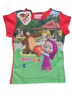 MASHA E ORSO Maglietta T-SHIRT bambina 7 anni art.st13 rosso