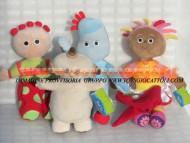 !!!!!  LA FORESTA DEI SOGNI !!!!!, IN THE NIGHT GARDEN !!!!!offerta 4 pezzi formata da  PELUCHE CIRCA 32 CM PERSONAGGIO MAKKA PAKKA , Upsy Daisy , TOMBOLINO Tombliboo , Iggle piggle ORIGINALE UFFICIALE CARTONE ANIMATO GIOCATTOLI PELUCHE toys , BRINQU