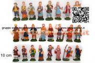 statuine da presepe in plastica 10 cm - 24 pezzi - 1 scatola assortita - versione economia 8033113004681
